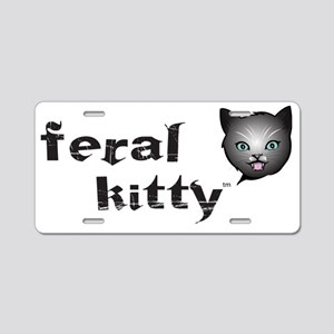 Kitty nighttime Aluminum License Plate