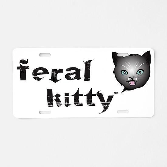 Kitty nighttime Aluminum License Plate