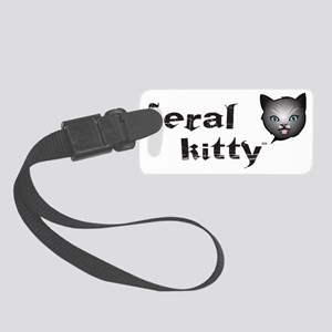 Kitty nighttime Small Luggage Tag
