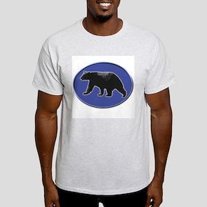 Black Bear and Tracks Ash Grey T-Shirt