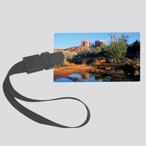 cathedral reflection Large Luggage Tag