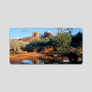 cathedral reflection Aluminum License Plate