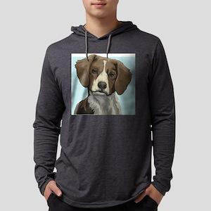 Brittany dog Mens Hooded Shirt