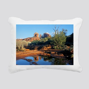 cathedral reflection Rectangular Canvas Pillow