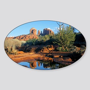 cathedral reflection Sticker (Oval)
