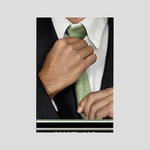 23x35_suit-up_v Rectangle Magnet