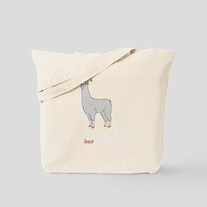 llama2-black Tote Bag