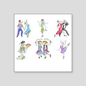 "Shirts-Dark-Dancing Bedlies Square Sticker 3"" x 3"""