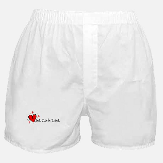 """I Love You"" [German] Boxer Shorts"