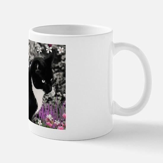 Freckles Tux Cat Flowers II Mug