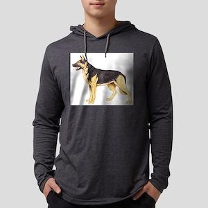 German Shepherd Mens Hooded Shirt