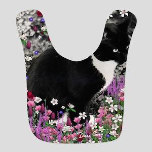 Freckles Tux Cat Flowers II Bib
