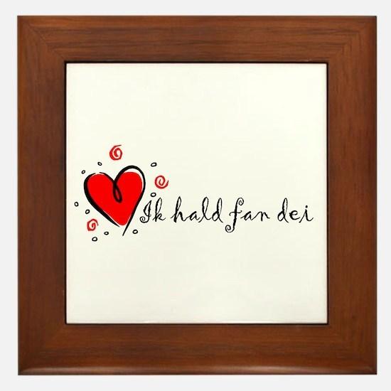 """I Love You"" [Frisian] Framed Tile"