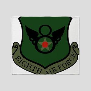 USAF-8th-AF-Shield-Subdued Throw Blanket