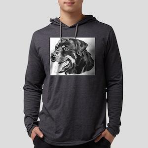 Rottweiler Mens Hooded Shirt