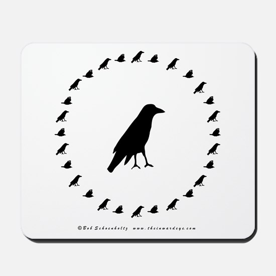 Mousepad with Crow Circle