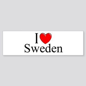 """I Love Sweden"" Bumper Sticker"
