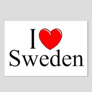 """""""I Love Sweden"""" Postcards (Package of 8)"""