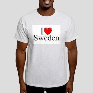 """""""I Love Sweden"""" Ash Grey T-Shirt"""