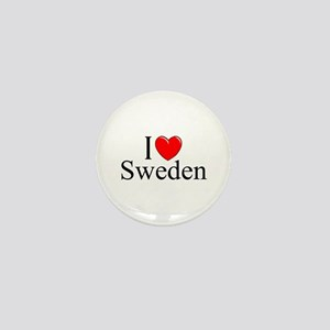 """I Love Sweden"" Mini Button"