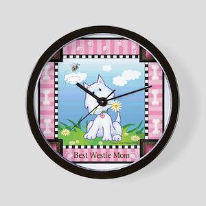 Best Westie Mom Wall Clock