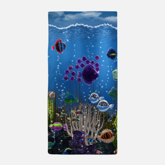 Underwater Love Beach Towel
