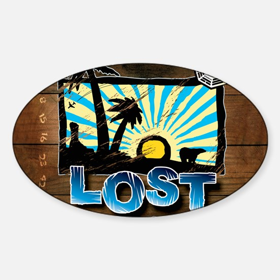 lostwoodvintageCALENDAR Sticker (Oval)