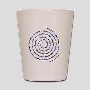 SpiralWrestlerWords Shot Glass