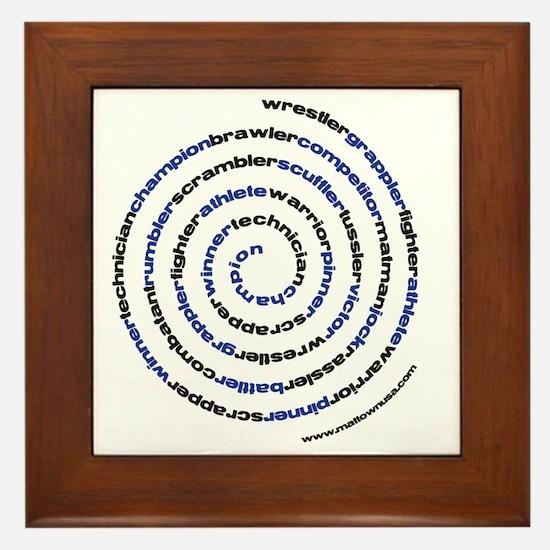 SpiralWrestlerWords Framed Tile