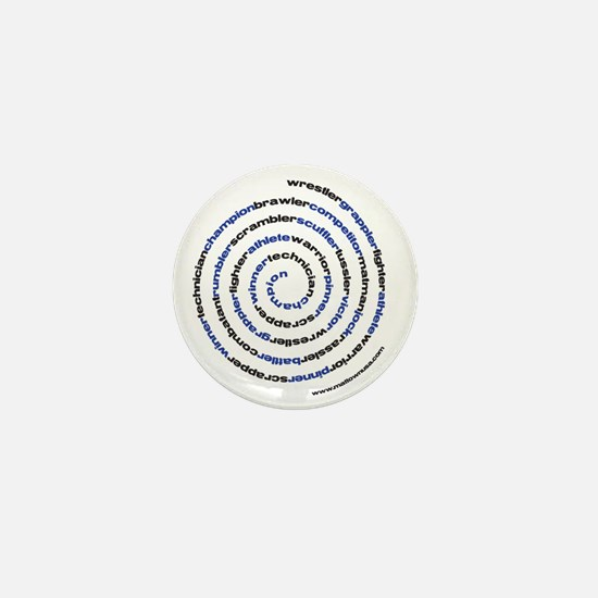SpiralWrestlerWords Mini Button