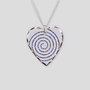 SpiralWrestlerWords Necklace Heart Charm