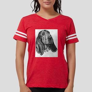 Basset Hound Womens Football Shirt T-Shirt