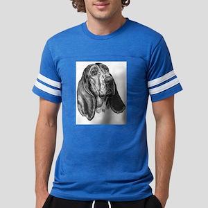 Basset Hound Mens Football Shirt T-Shirt