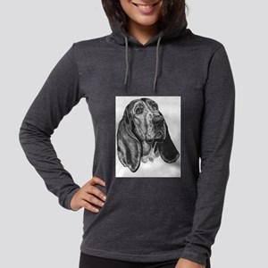 Basset hound Womens Hooded Shirt