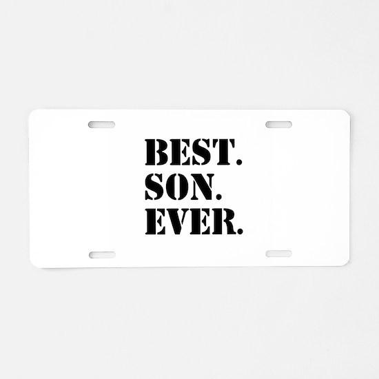 Best Son Ever Aluminum License Plate