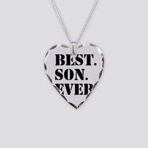 Best Son Ever Necklace Heart Charm