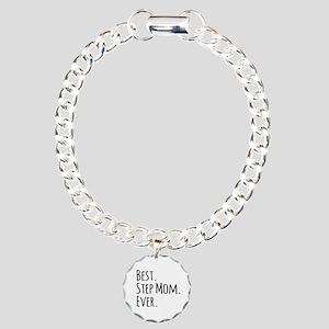 Best Step Mom Ever Charm Bracelet, One Charm