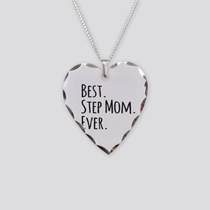 Best Step Mom Ever Necklace Heart Charm