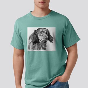 long haired dachshund Mens Comfort Colors Shirt