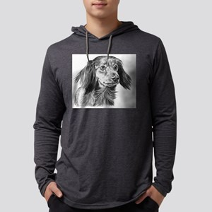 long haired dachshund Mens Hooded Shirt