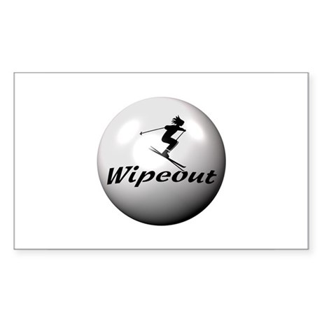 Wipeout Rectangle Sticker