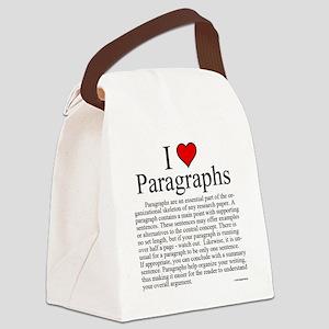 ParagraphsL Canvas Lunch Bag