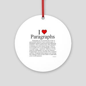 ParagraphsL Round Ornament