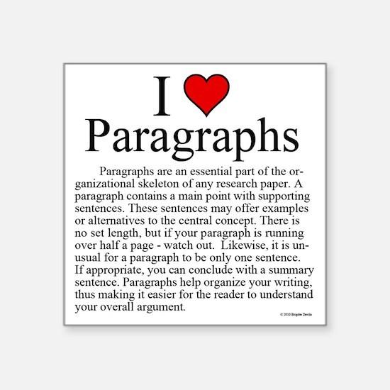 "ParagraphsL Square Sticker 3"" x 3"""