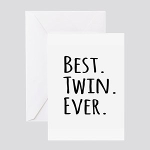 Best Twin Ever Greeting Cards