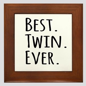Best Twin Ever Framed Tile
