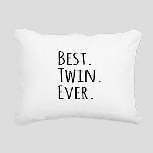 Best Twin Ever Rectangular Canvas Pillow
