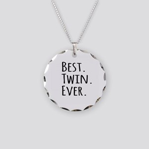 Best Twin Ever Necklace Circle Charm