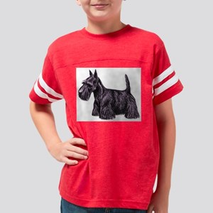 Scottish Terrier Youth Football Shirt