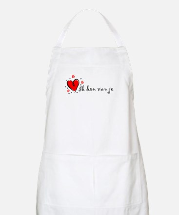 """I Love You"" [Dutch] BBQ Apron"